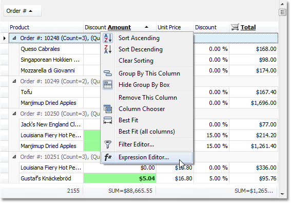 WinForms Expression Editor