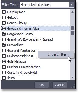 WinForms Pivot Grid Filter