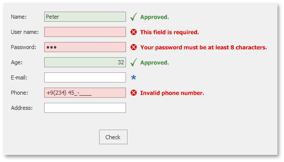 WinForms Adorner UI - Validation Messages