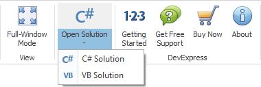 WinForms Demos - Open Solution