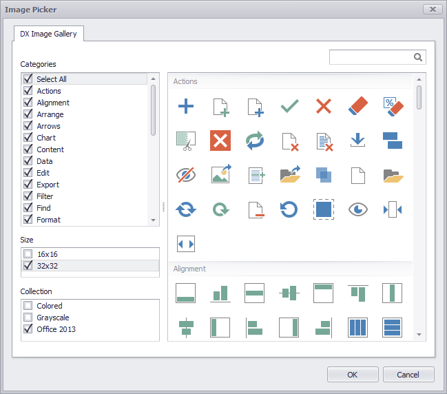 WinForms Office 2013 Flat Icons