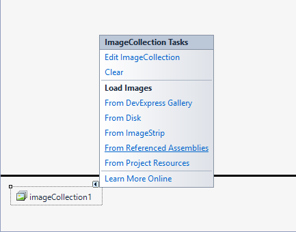 DevExpress Image Collection Step 3