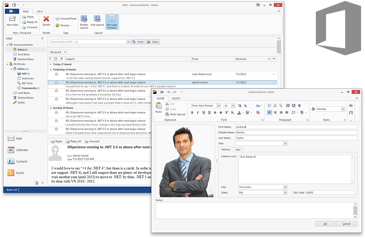 WinForms Office 2013 Light Gray Theme