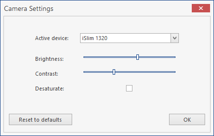 WinForms Camera Control Settings