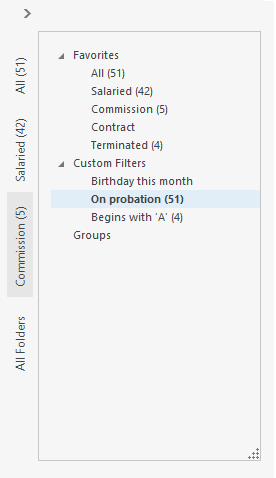 Outlook Inspired Folder Pane Popup