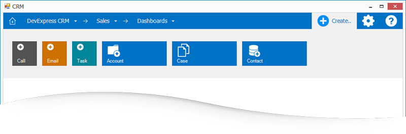 Microsoft Dynamics Inspired Tile Navigation Pane