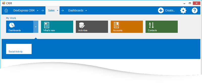 Microsoft Dynamics Inspired Tile Navigation Pane