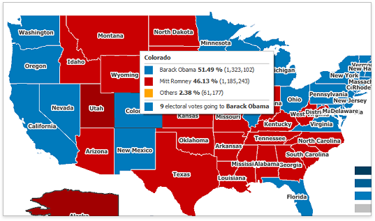 US Election Results WinForms Data Visualization Thinking Out Loud - Map of us election results