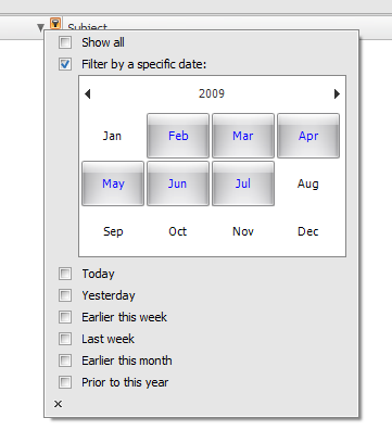 WinForms DataGrid Date Filtering
