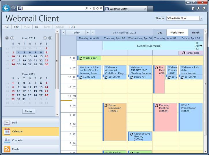 ASP.NET Outlook Style Scheduler Client