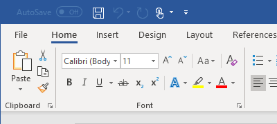 Ribbon - Office 2019 Colorful theme