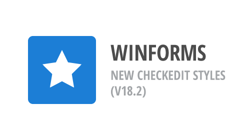WinForms - New CheckEdit Styles