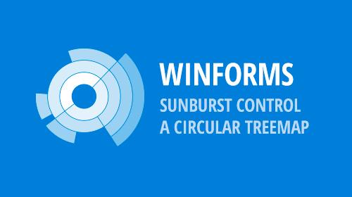 WinForms Sunburst Control - A Circular TreeMap (v18.2)