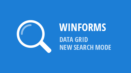 WinForms - Data Grid - Find Panel Modes (v18.2)