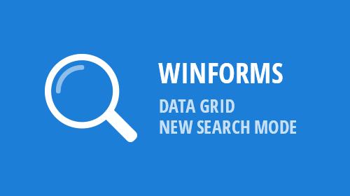WinForms - Data Grid - Find Panel Modes (v18.2)