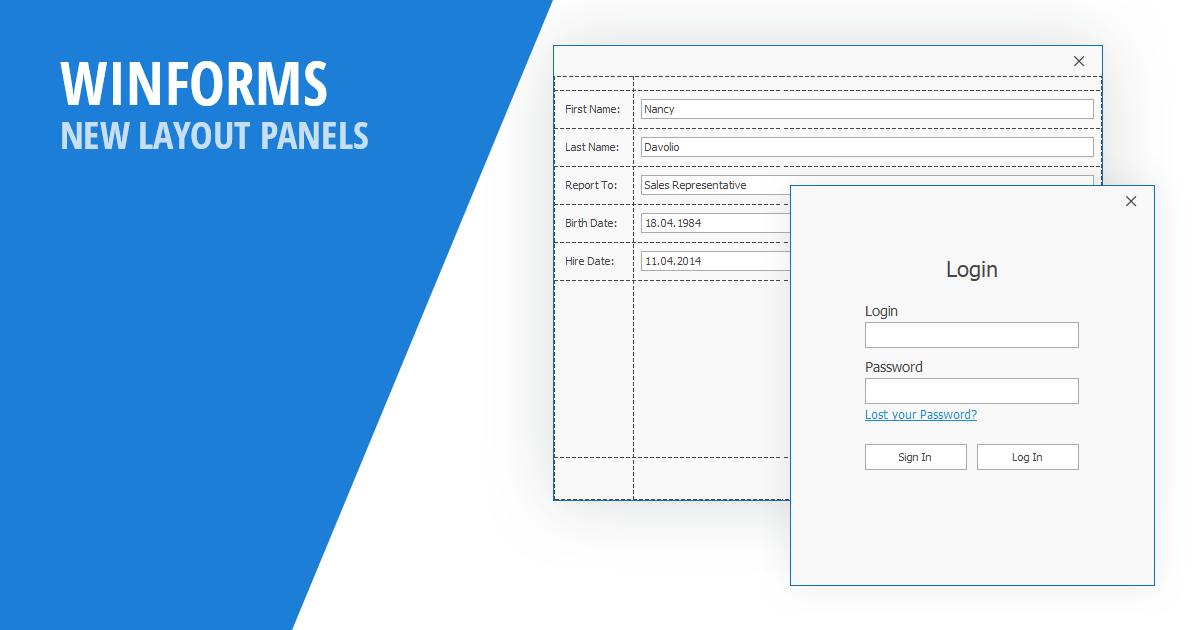 WinForms - New Layout Panels (v19 1)