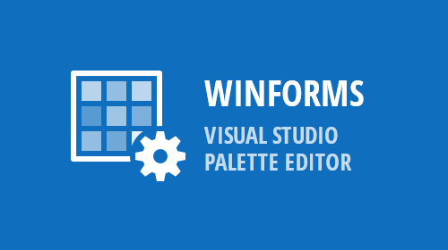 WinForms - Visual Studio Palette Editor (v19.1)