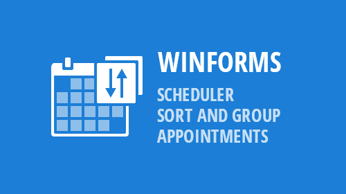 WinForms - Scheduler - Sort And Group Appointments (v19.1)