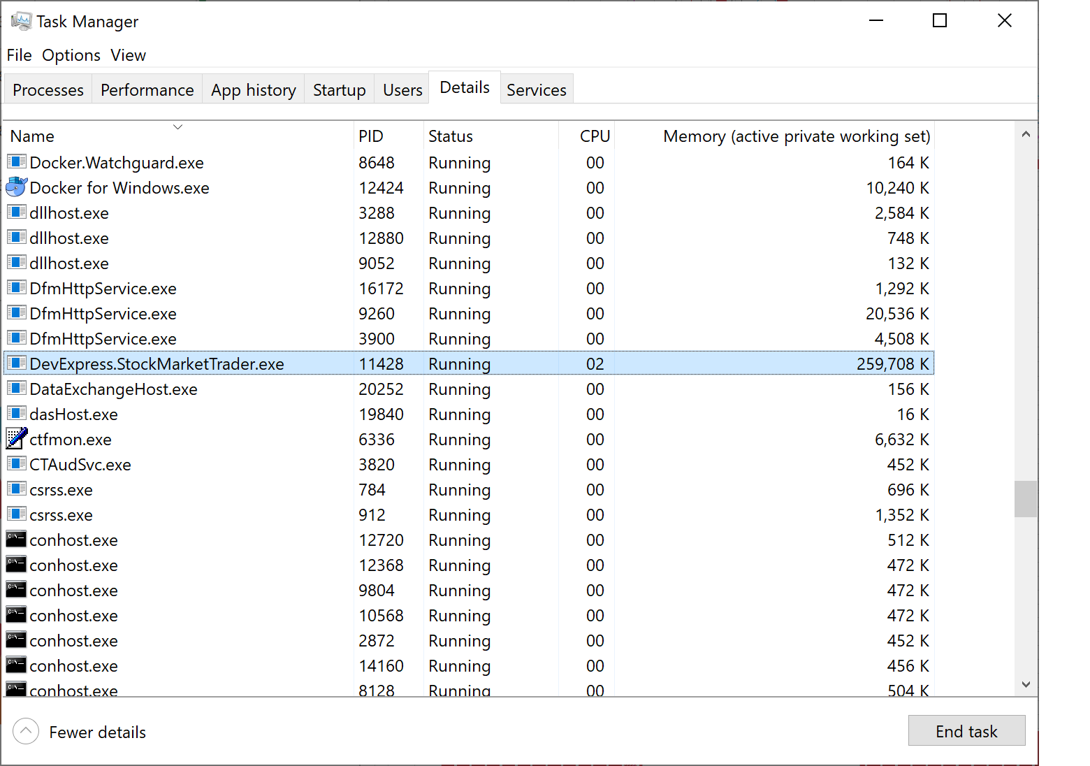 Memory Consumption for Multi-File Executable