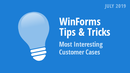 WinForms Tips & Tricks (July 2019)