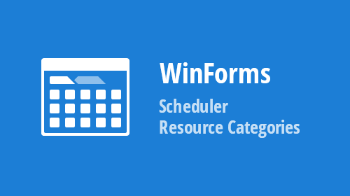 WinForms Scheduler - Resource Categories