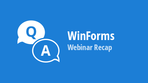 WinForms Webinar Recap and Survey