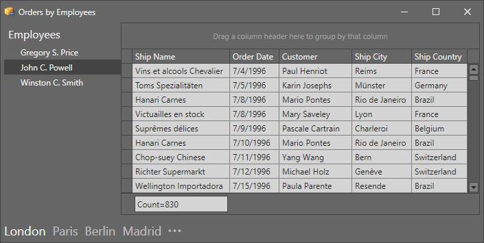 Integration with Office Navigation Bar
