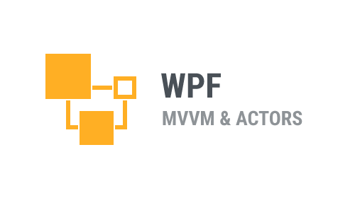 WPF - Actor Model as a Model layer for MVVM