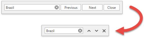SearchPanel Icon UI