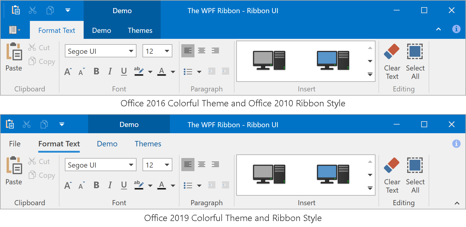 Office 2019 Ribbon Styles
