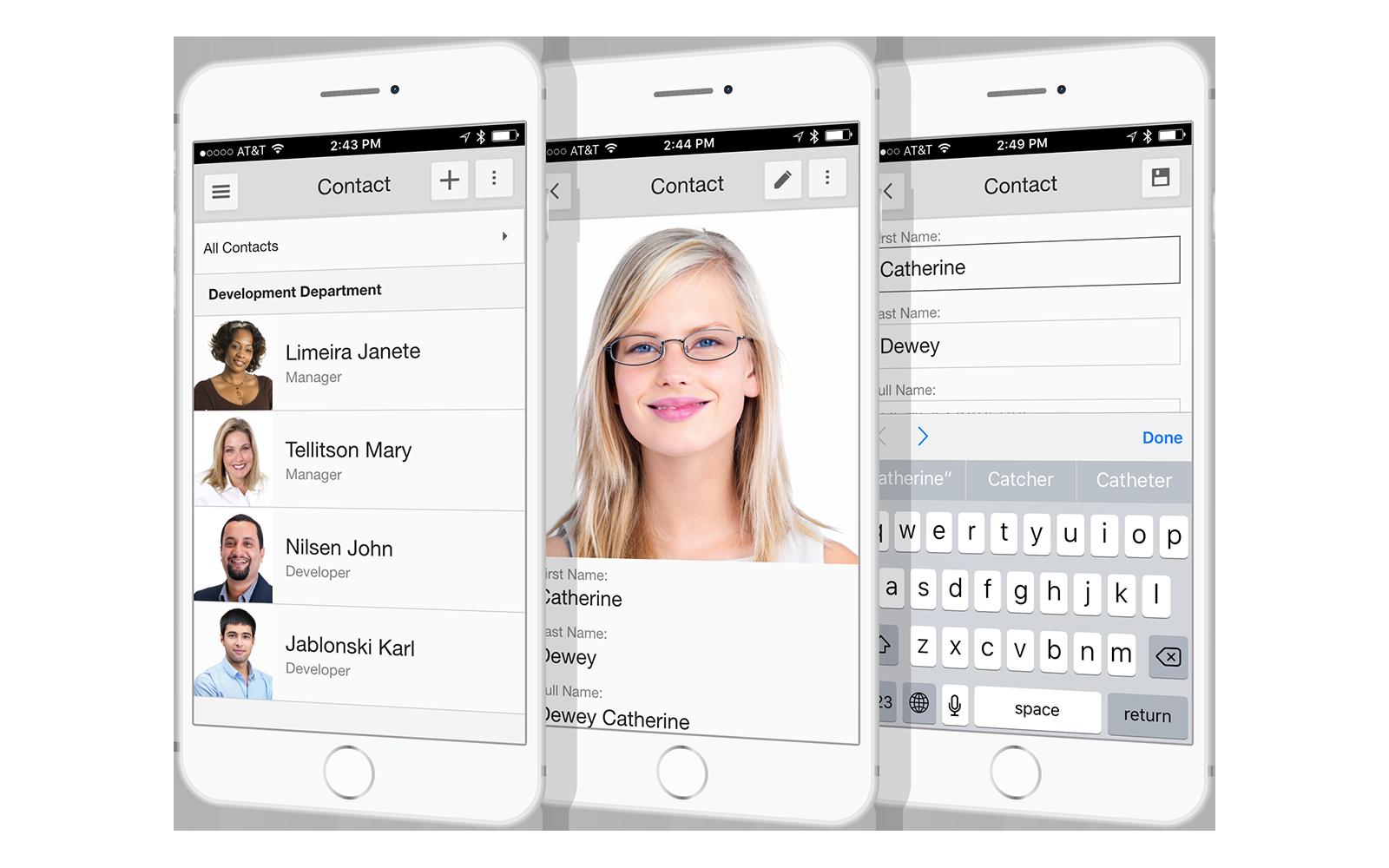 XAF Mobile App UI