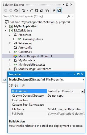 XAF Application From Scratch - Model.DesignedDiffs.xafml Properties