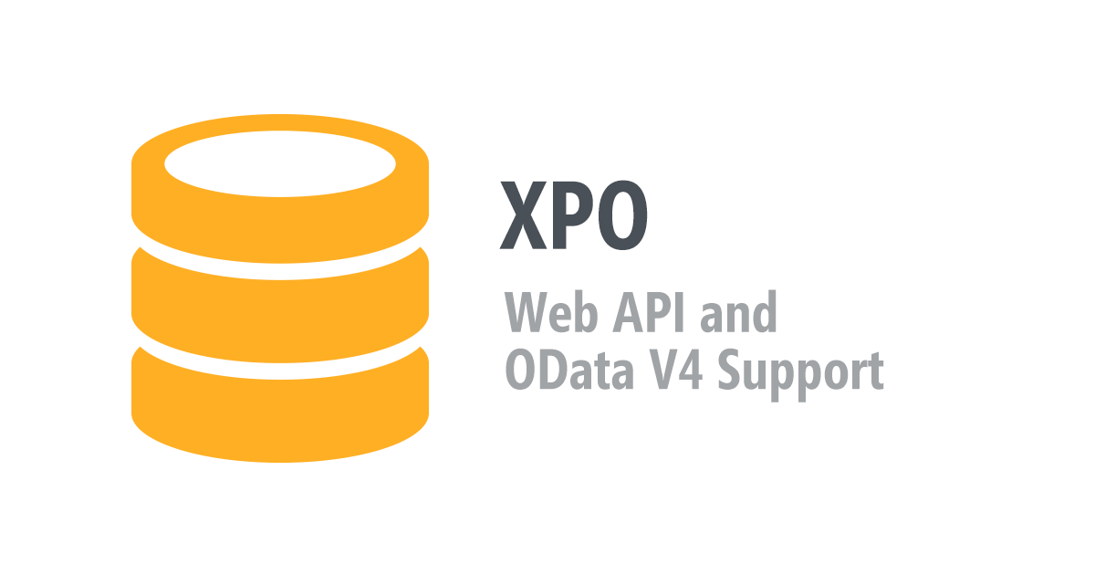 XPO - Web API and OData V4 Support